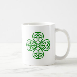 green shamrock celtic knot coffee mugs