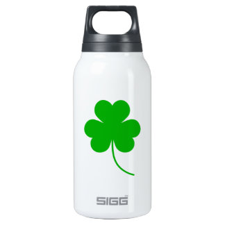 Green Shamrock Clover for St. Patrick's Day 10 Oz Insulated SIGG Thermos Water Bottle