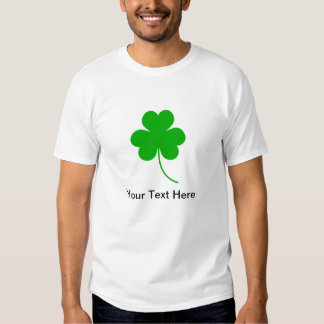 Green Shamrock Clover for St. Patrick's Day Tee Shirts