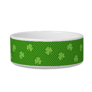 Green Shamrock Clover Pattern Saint Patricks Day Bowl