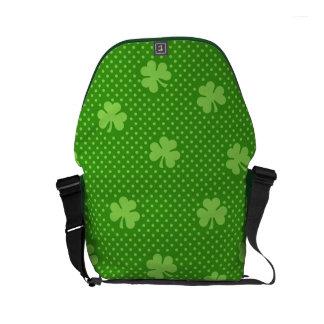 Green Shamrock Clover Pattern Saint Patricks Day Courier Bag