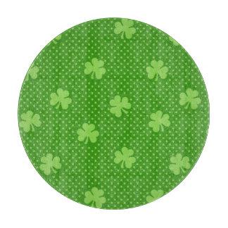 Green Shamrock Clover Pattern Saint Patricks Day Cutting Board
