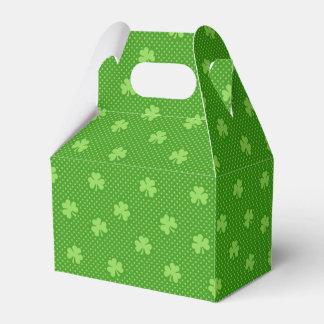 Green Shamrock Clover Pattern Saint Patricks Day Favour Box