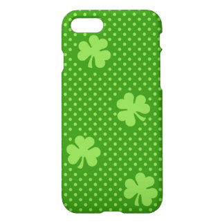 Green Shamrock Clover Pattern Saint Patricks Day iPhone 8/7 Case