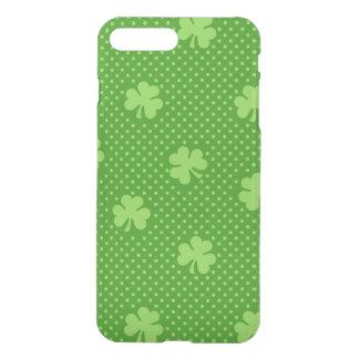 Green Shamrock Clover Pattern Saint Patricks Day iPhone 8 Plus/7 Plus Case