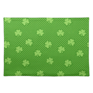 Green Shamrock Clover Pattern Saint Patricks Day Placemat