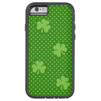 Green Shamrock Clover Pattern Saint Patricks Day Tough Xtreme iPhone 6 Case