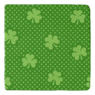 Green Shamrock Clover Pattern Saint Patricks Day Trivet