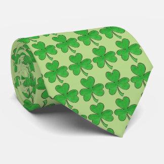 Green Shamrock Clover St. Saint Patrick's Day Tie