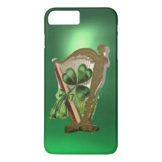 GREEN SHAMROCK HARP green iPhone 8 Plus/7 Plus Case