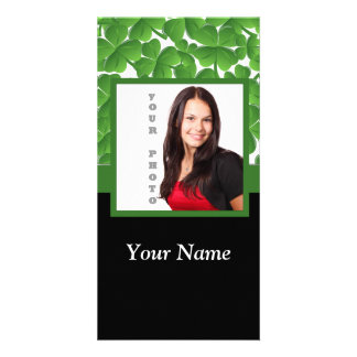 Green shamrock instagram template photo cards
