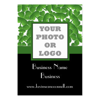 Green shamrock photo logo pack of chubby business cards