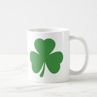 green shamrock st. patrick´s day coffee mugs