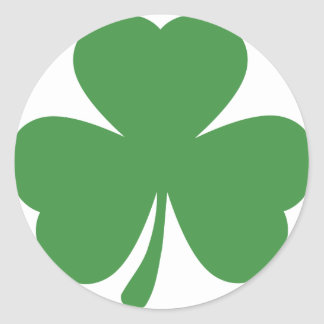 green shamrock st. patrick´s day round sticker