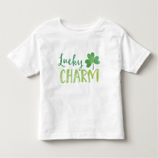 Green Shamrock St. Patrick's Day Lucky Charm Toddler T-Shirt