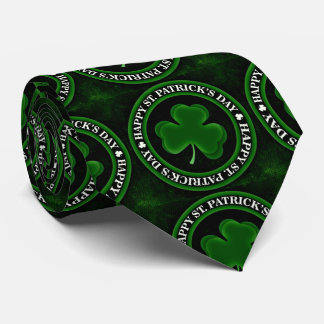 green Shamrock St Patrick's Day Thunder_Cove black Tie