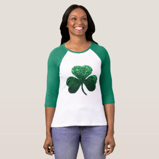 Green shamrock St. Patrick's Day women's shirt