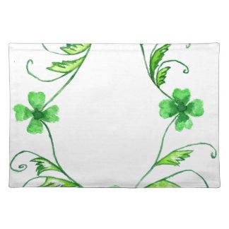 Green Shamrock Watercolor Placemat