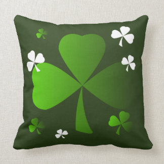 Green Shamrocks St. Patrick's Day Accent Pillow