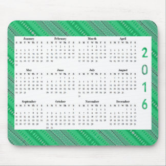 Green Shapes Design 2016 yearly Calendar Mouse Pad