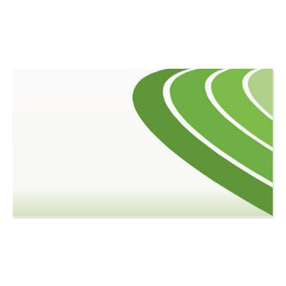 green shapes simple business card