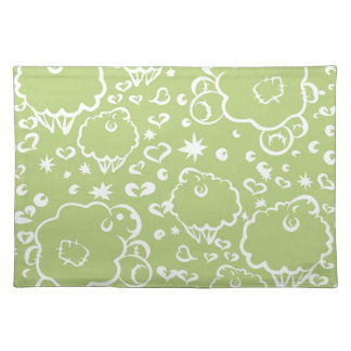 Green sheep dream placemat