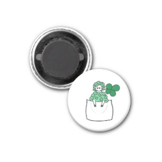 Green Sheep Magnet
