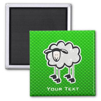 Green Sheep Refrigerator Magnet