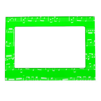 Green Sheet Music Magnetic Picture Frame