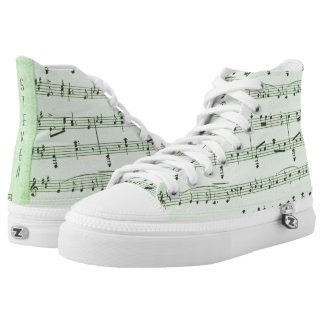 Green Sheet Music Personalized Sneakers