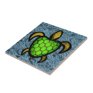 Green Shell Turtle Tile
