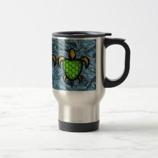 Green Shell Turtle Travel Mug