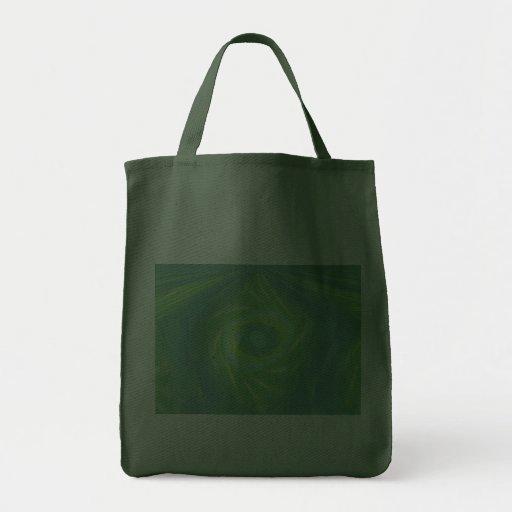 Green Shooting stars and comets Tote Bag