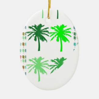 GREEN SHOW : Trees LOTS of TREES  lowprice gifts Ceramic Oval Decoration
