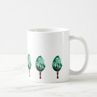Green Shrubs Coffee Mug