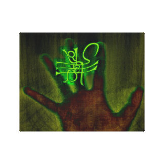 Green Sign/Glyph Canvas Print