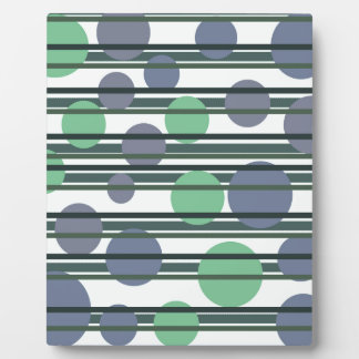 Green simple pattern photo plaque