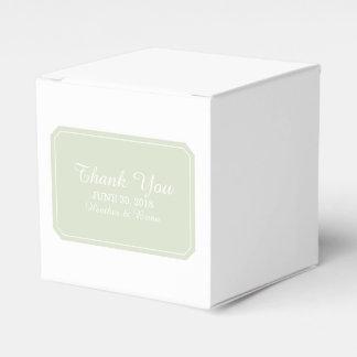 Green Simply Elegant Favor Boxes