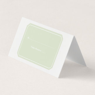 Green Simply Elegant Place Cards