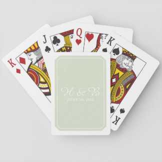 Green Simply Elegant Playing Cards