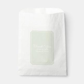 Green Simply Elegant Wedding Favour Bag