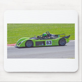 Green single seater race car mouse pad