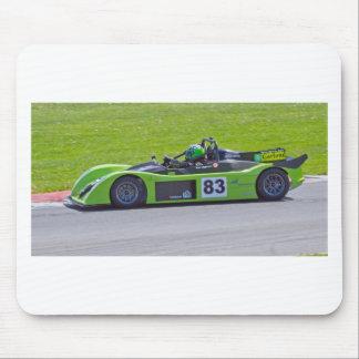 Green single seater race car mousepad