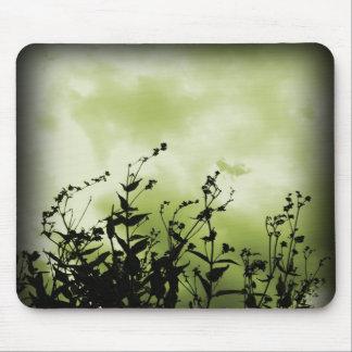 Green skies mouse pad