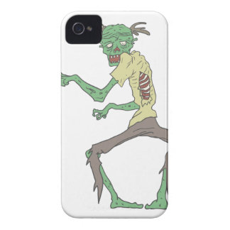 Green Skin Creepy Zombie With Rotting Flesh Case-Mate iPhone 4 Case