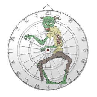 Green Skin Creepy Zombie With Rotting Flesh Dartboard