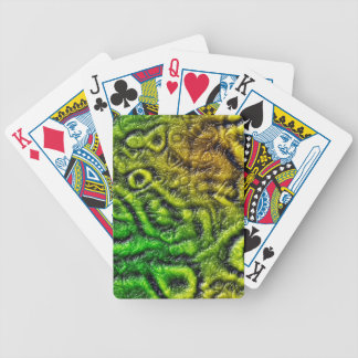 Green skin texture bicycle playing cards