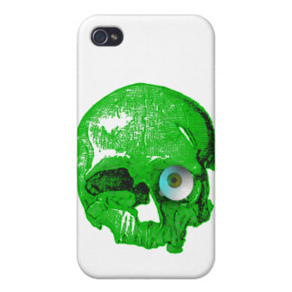 Green Skull and Eyeball iPhone 4 Cover