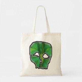 Green Skull. Tote Bags