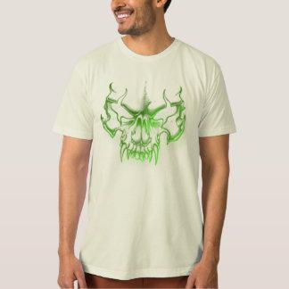 green skull head graffiti art tshirts